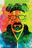 Walter White Watercolor 1 Plastic Sign by Anna Malkin