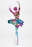 Ballerina Watercolor 1 Kunststof borden van Irina March