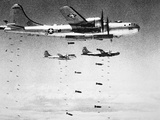 U.S. Airforce B-29 Superfortresses Drop Bombs on North Korea, 1951 Photographic Print