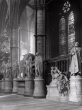 Statues of Eminent Figures Buried in Westminster Abbey, London Photographic Print by Frederick Henry Evans