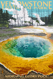 Morning Glory Pool - Yellowstone National Park Plastskilt av  Lantern Press