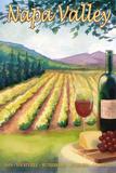 Napa Valley, California Wine Country Cartel de plástico por  Lantern Press