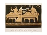 Bacchus' Banquet, Table 38 from 'Collection Des Vases Grecs, Volume Ii', Published 1813-24 Giclée-vedos tekijänä Alexandre De Laborde