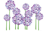 Purple Allium Plastic Sign