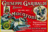 Giuseppe Garibaldi Macaroni Label - Philadelphia, PA Plastikskilt af  Lantern Press