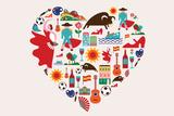 Spain Love Plastikskilt af  Marish