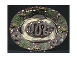 Plate with Embossed Naturalistic Decorations and Polychrome Enamel Giclee Print by Bernard Palissy