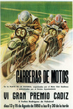 Motorcycle Racing Promotion Targa di plastica di  Lantern Press
