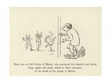 There Was an Old Person of Minety, Who Purchased Five Hundred and Ninety Large Apples and Pears Giclée-Druck von Edward Lear