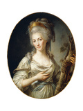 Portrait of a Lady Said to Be the Princess De Lamballe Giclée-Druck von Antoine Vestier