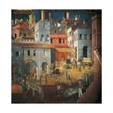 Effects of Good Government in City Giclée-tryk af Ambrogio Lorenzetti