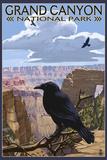 Grand Canyon National Park - Ravens and Angels Window Signe en plastique rigide par  Lantern Press