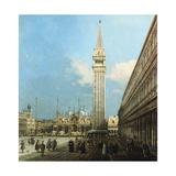 The Piazzetta, Venice, with the Bacino Di S. Marco and the Isola Di S. Giorgio Magiore Impressão giclée por  Canaletto