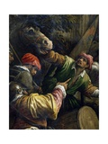 Venetians Defeating Milanese in Casalmaggiore in 1446 Giclée-tryk af Francesco Bassano