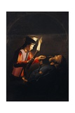 Discovery of Body of St Alexis or Death of St Alexis Giclee Print by Georges de La Tour