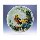 A Large Emile Diffloth Glazed Earthenware Charger, Depicting a Golden Pheasant Reproduction procédé giclée par Eugene Carriere