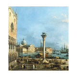 The Piazzetta, Venice, with the Bacino Di S. Marco and the Isola Di S. Giorgio Magiore Impressão giclée por  Canaletto