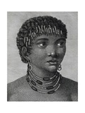Housouana Woman, Engraving from Travels into Interior of Africa Via Cape of Good Hope Giclée-Druck von Francois Le Vaillant