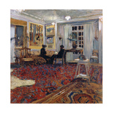 Chat at the Fontaines: Mr and Mrs Arthur Fontaine; Causerie Chez Les Fontaines Giclée-Druck von Edouard Vuillard