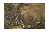 Military Surgeon of the Battlefield During the Spanish War of Succession Giclee Print by Georg Philipp I Rugendas
