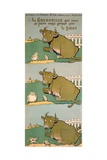 The Frog Who Would Grow as Big as the Ox, from 'Fables' Giclee Print by Benjamin Rabier