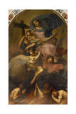 Madonna in Glory with the Child and the Souls of Purgatory, Ca 1700 Giclée-tryk af Antonio Zanchi