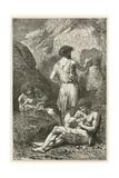 Les Precurseurs De Raphael Et De Michel-Ange Giclée-vedos tekijänä Emile Antoine Bayard