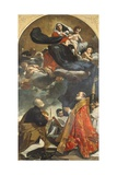 Altarpiece Depicting Virgin with Saints Petronius and Alo, 1614 Giclée-tryk af Giacomo Cavedoni