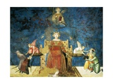 Allegory of Good Government, Wisdom and Justice Giclée-tryk af Ambrogio Lorenzetti