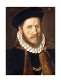 Portrait of a Bearded Gentleman, Bust Length, Wearing Gold Chains Beneath a Fur-Lined Coat, 1575 Giclee Print by Adriaen Thomasz Key