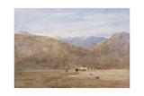 Cader Idris and Mynydd Moel from a Meadow on the Mawwdach Near Dolgellan, C.1840 Giclee Print by David Cox