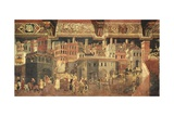 The Effects of Good Government in Cities Giclée-tryk af Ambrogio Lorenzetti