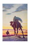 The Flight of Muhammad to Medina Giclee Print by Arthur C. Michael