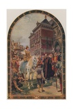 The Opening of the First Royal Exchange by Queen Elizabeth I, London, 23 January 1571 Giclee Print by Ernest Crofts