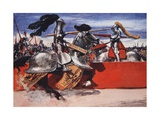 Maximilian Would Often Take Part in Tournaments Giclee Print by Arthur C. Michael