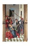 Beheading of St Catherine, Panel of St Catherine Triptych Giclée-tryk af Fernando Gallego