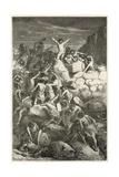 Les Premiers Combats Reguliers Entre Les Hommes a L'Age De La Pierre Giclée-vedos tekijänä Emile Antoine Bayard