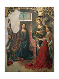 Saint Ildephonsus Receiving the Chasuble from the Virgin Giclée-tryk af Fernando Gallego