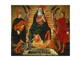 The Assumption of the Virgin and the Saints Julian and Miniato Giclée-tryk af Andrea Del Castagno