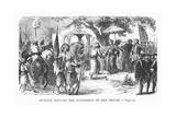 Dupleix Meeting the Soudhabar of the Deccan Giclee Print by Alphonse Marie de Neuville