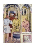 Preparation of Boiling Oil, Detail from Martyrdom of St Lucia Giclée-Druck von Altichiero