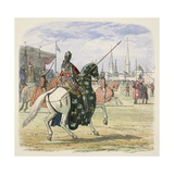 Richard II Stops the Duel Between Hereford and Norfolk Reproduction procédé giclée par James William Edmund Doyle