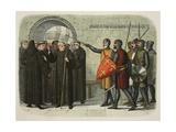 The Monks of Christchurch Expelled Reproduction procédé giclée par James William Edmund Doyle