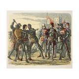 Murder of Prince Edward after Capture by King Edward IV Reproduction procédé giclée par James William Edmund Doyle