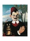 Portrait of French Writer Pierre Loti, Pseudonym of Louis Marie Julien Viaud Giclee-trykk av Henri Rousseau