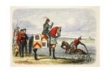 Buckingham Finds the Severn Impassable Reproduction procédé giclée par James William Edmund Doyle