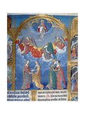 Ms 412 the Trinity Surrounded by Three Angels and Below Them Personifications of Mercy and Truth Giclee Print by Jean Fouquet