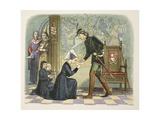 Edward IV and Lady Elizabeth Grey Reproduction procédé giclée par James William Edmund Doyle