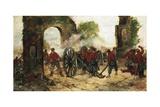Defense of Porta Capuana or Battle of Volturno, 1860 Lámina giclée por Giovanni Fattori