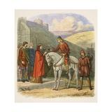 Edward Murdered at Corfe Reproduction procédé giclée par James William Edmund Doyle
